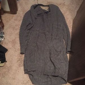 American Eagle Hooded Cardigan Gray Size M